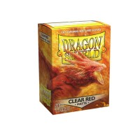 Dragon Shield Matte Sleeves - Clear Red (100)