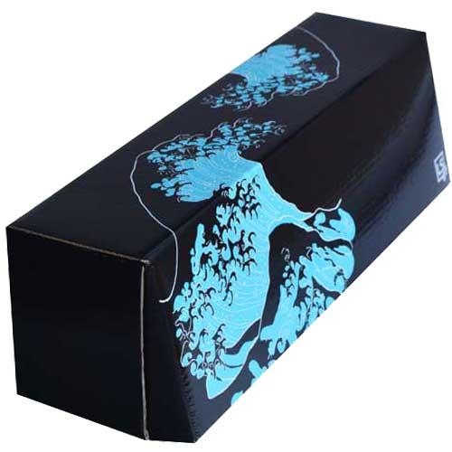 LS Accessories Black and Blue Glossy Storage Box - (Island)
