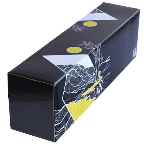 LS Accessories Black and Yellow Glossy Storage Box - (Plains)